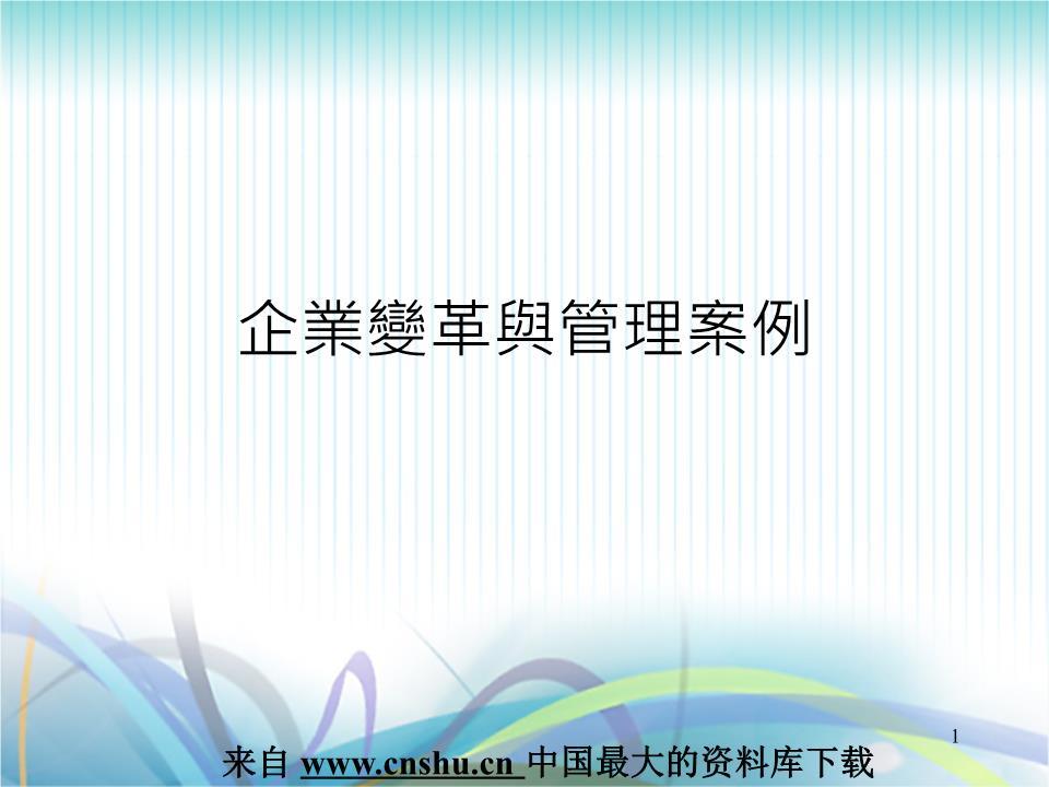 企业变革与管理案例(ppt 22).ppt