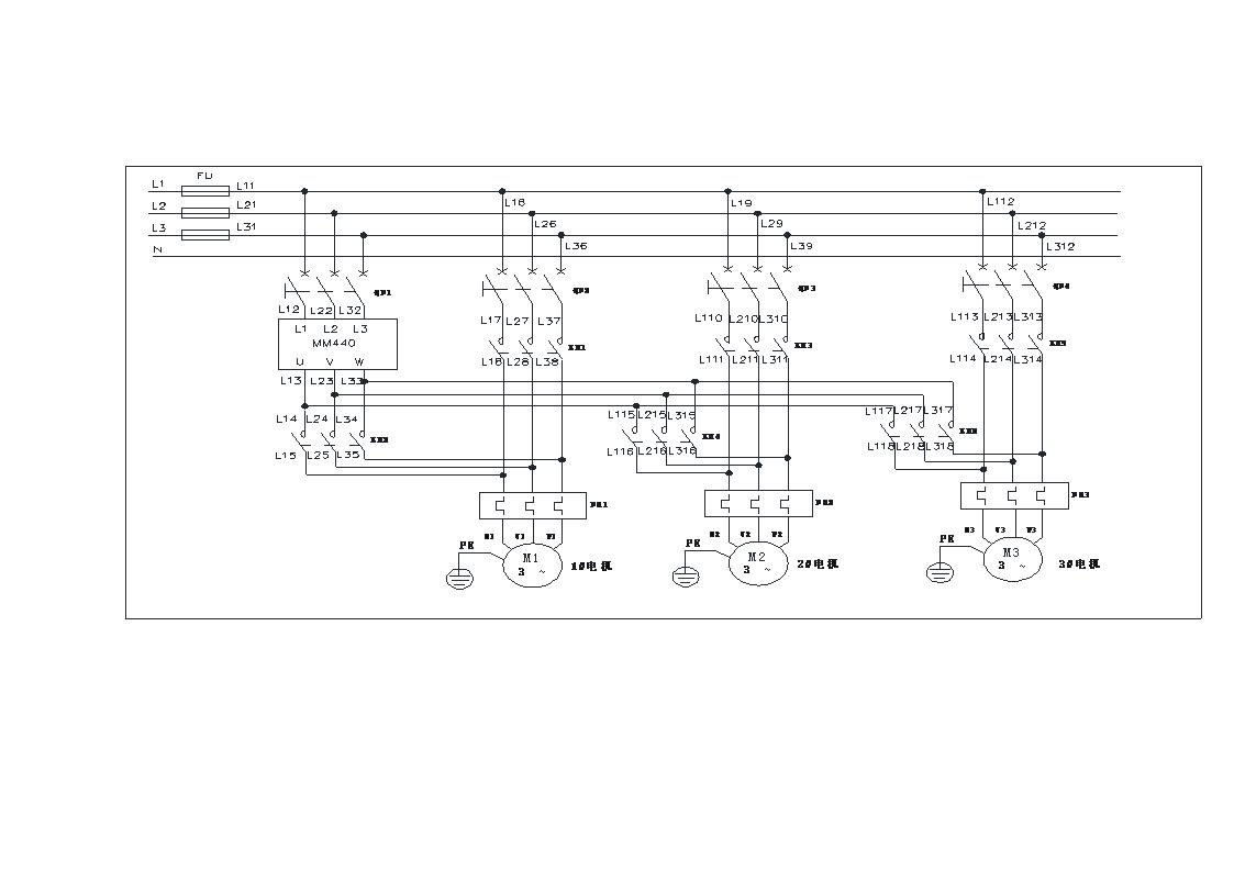 基于plc控制变频器恒压供水系统电路图和plc程序.doc