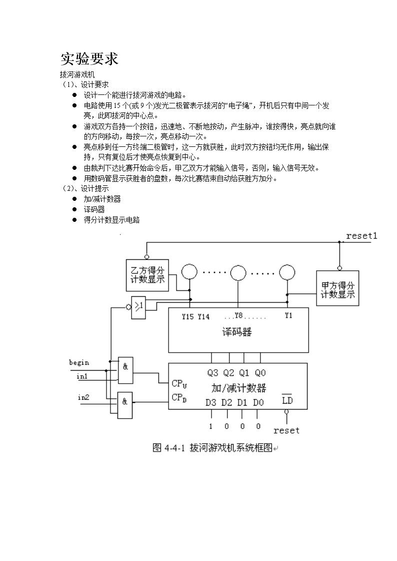 2016eda课程设计拔河游戏机.doc