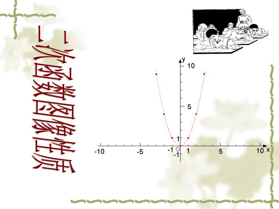 学目标 1会用描点法画出二次函数 的图像 2.ppt