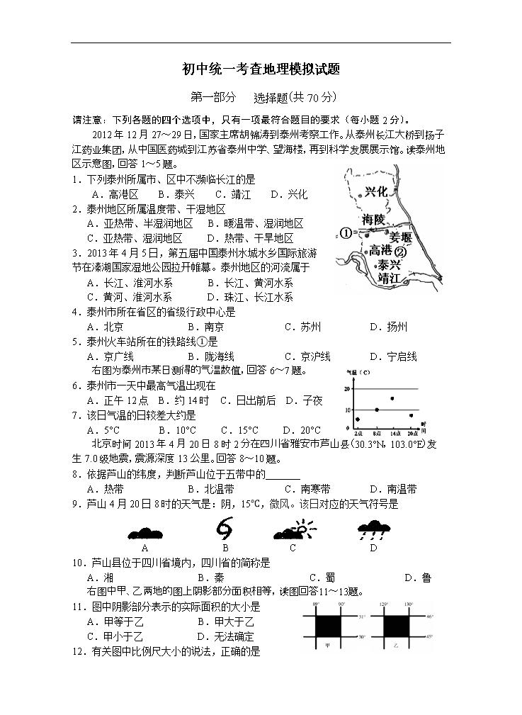 (1)塔里木(2)大兴安岭(3)d(4)青藏(5)地形(6)半湿润scopethisdocument