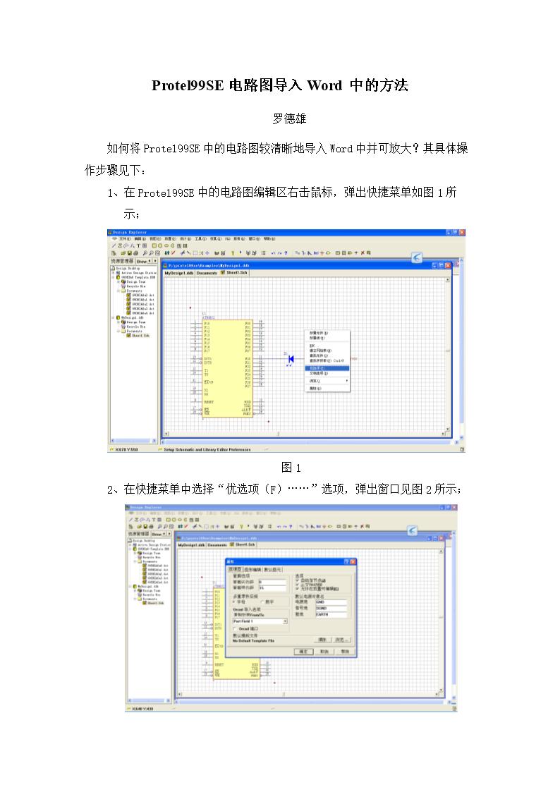 protel9se电路图导入word中的方法.doc