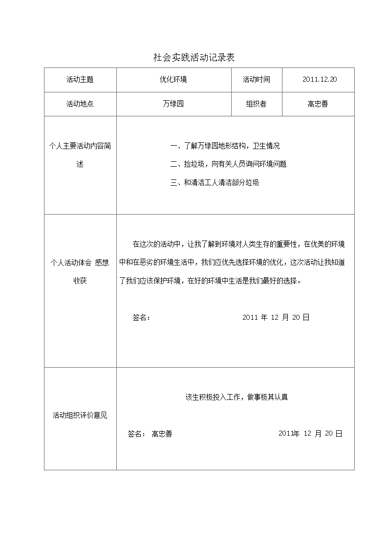 2013社会实践活动记录表.doc