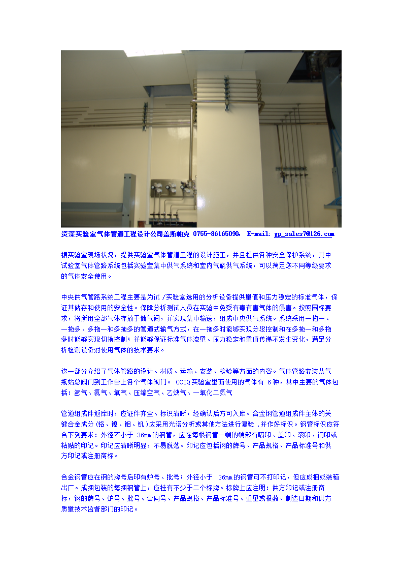 实验室气体管道工程设计.doc