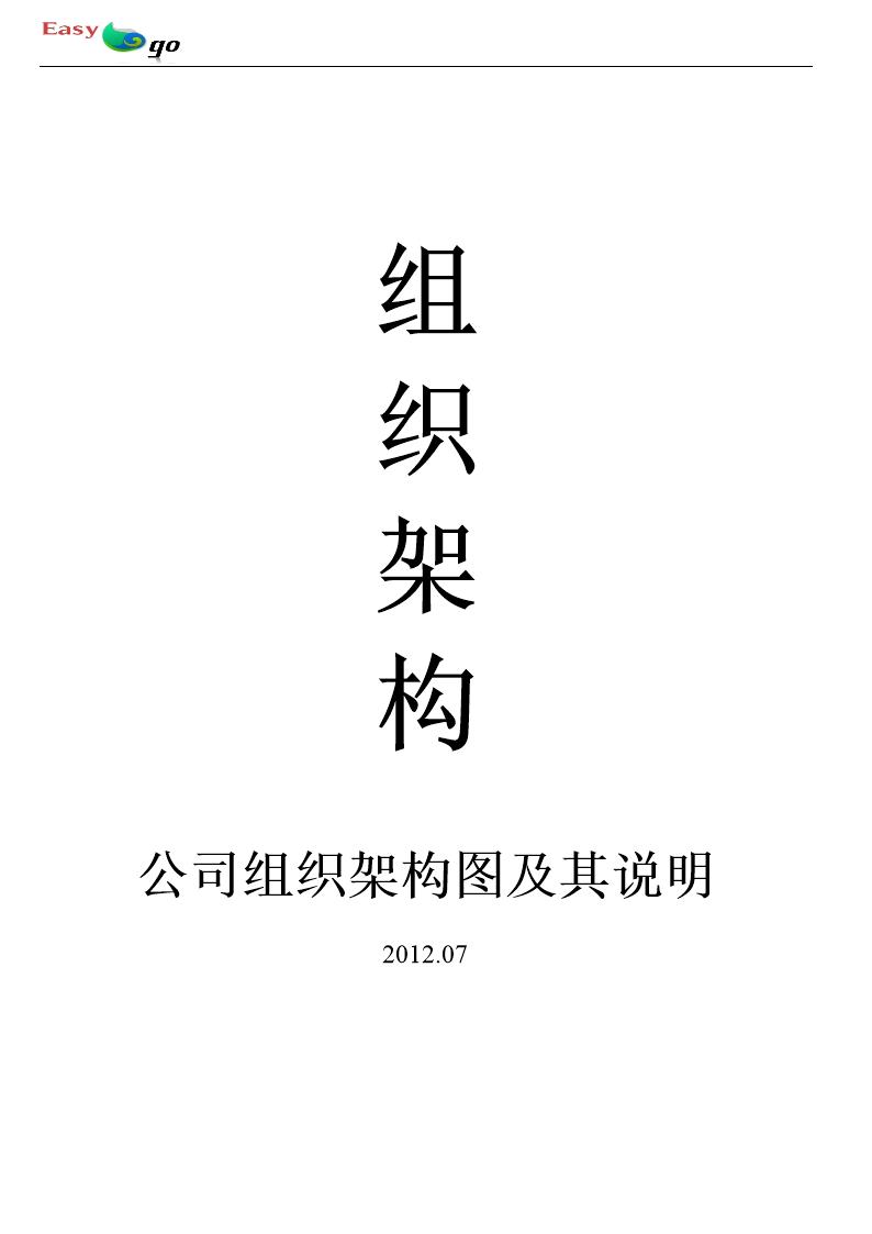 公司部门织结构图岗位职责及岗位说明书.doc