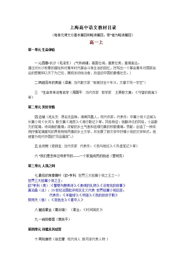 最新榆树目录教材高中语文+录取.doc解析上海高中分数线v目录最低图片