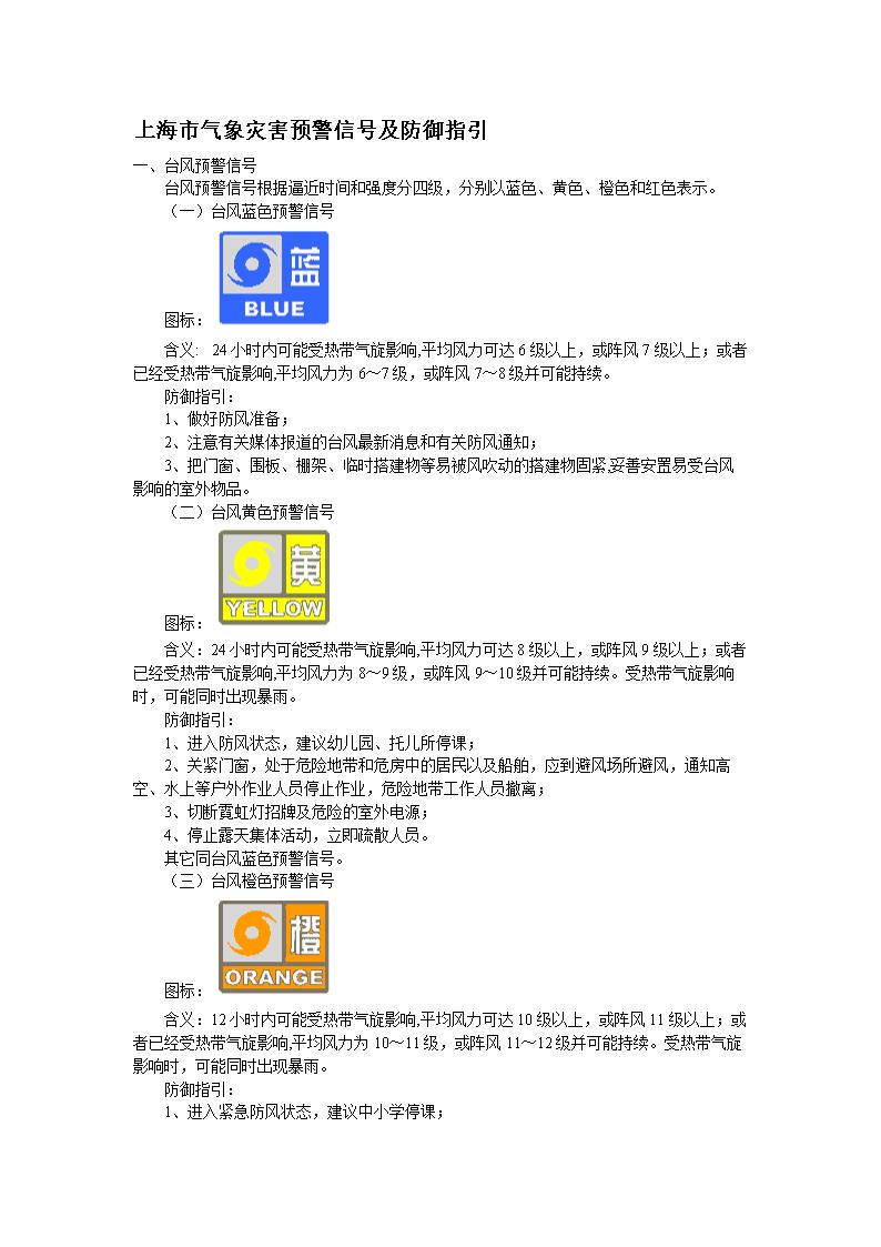上海市气象灾害预警信号及防御指引.doc