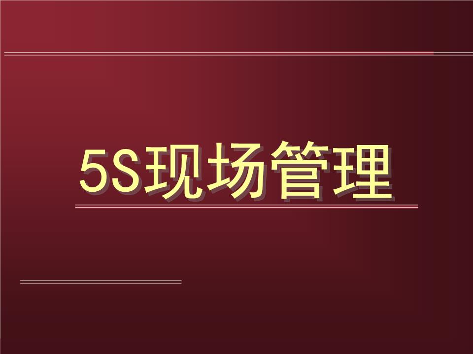 5S管理培训090617分析.ppt
