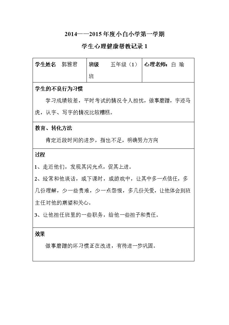 20142015心理健康v措施帮教措施.doc小学汕头入学2017图片
