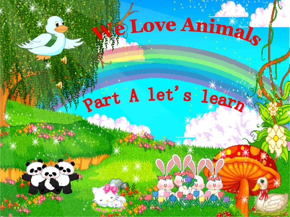新版本三年级英语上Unit-4-we-Love-Animals-p